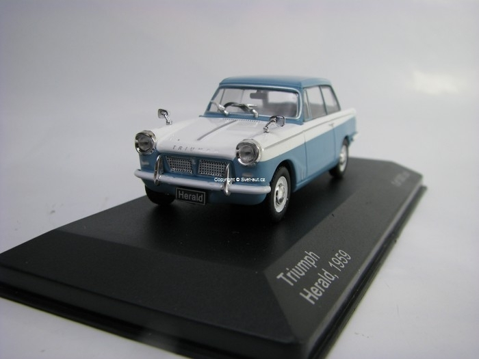 Triumph Herald 1959 Blue White 1:43 White Box
